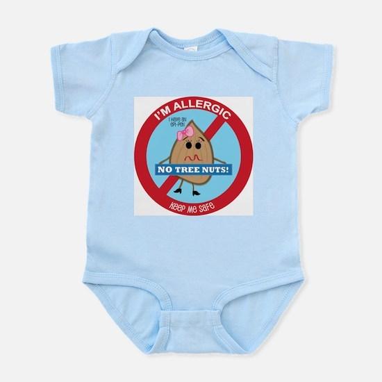 Tree Nut Allergy - Girl Infant Bodysuit