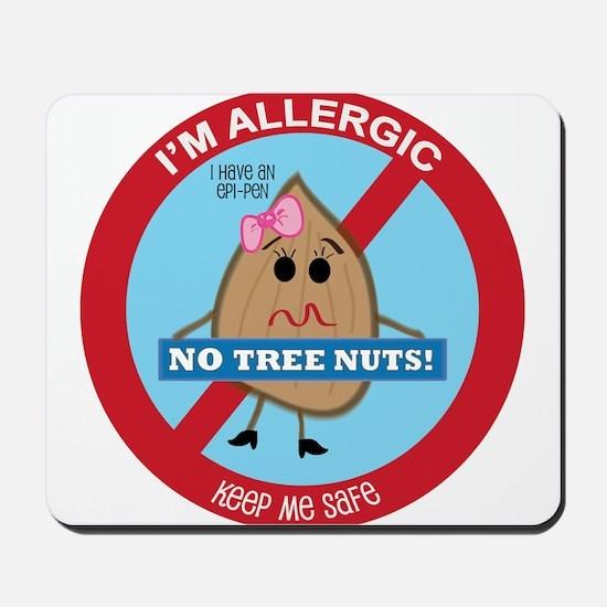 Tree Nut Allergy - Girl Mousepad