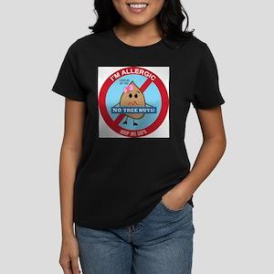 Tree Nut Allergy - Girl Women's Dark T-Shirt