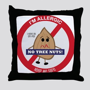 Tree Nut Allergy - Boy Throw Pillow