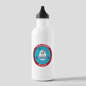 Egg Allergy - Girl Stainless Water Bottle 1.0L