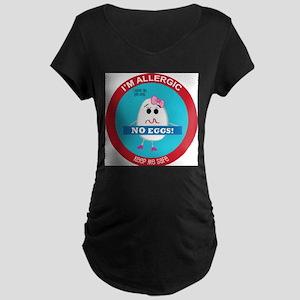 Egg Allergy - Girl Maternity Dark T-Shirt