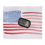 Support Our Troops Throw Blanket