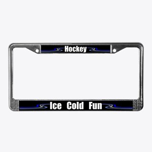 Hockey Ice Cold Fun License Plate Frame