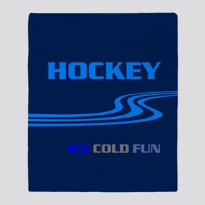 Hockey Ice Cold Fun Throw Blanket