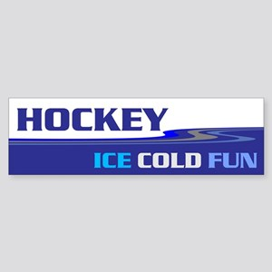 Hockey Ice Cold Fun Sticker (Bumper)