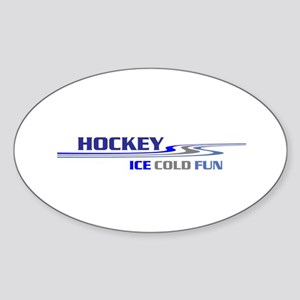 Hockey Ice Cold Fun Sticker (Oval)