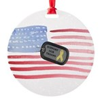 Support Our Troops Round Ornament