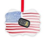 Support Our Troops Picture Ornament