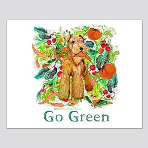 Airedale Terriers Go Green Small Poster
