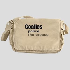 Goalies Police the Crease Messenger Bag