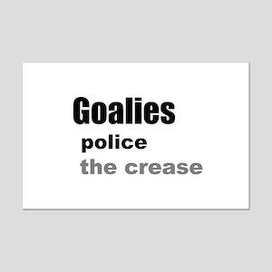 Goalies Police the Crease Mini Poster Print