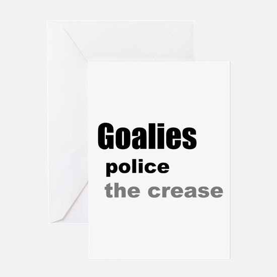 Goalies Police the Crease Greeting Card