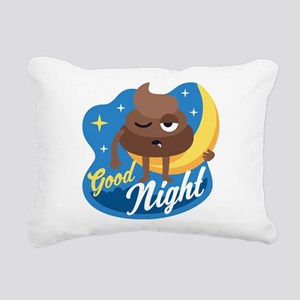Emoji Poop Good Night Rectangular Canvas Pillow
