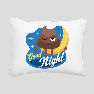 Emoji Poop Good Night Rectangular Canvas Pillow