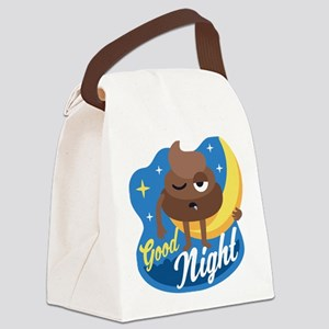 Emoji Poop Good Night Canvas Lunch Bag