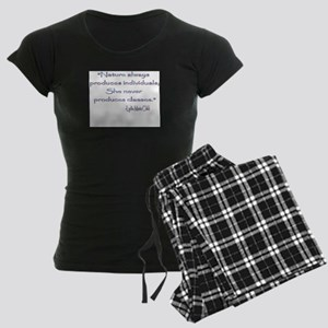 Lydia Maria Child Women's Dark Pajamas