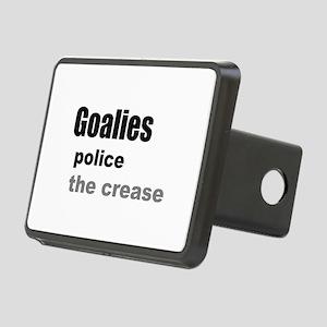 Goalies Police the Crease Rectangular Hitch Cover