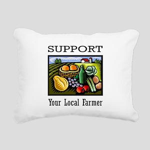 Support Your Local Farmer Rectangular Canvas Pillo
