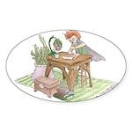 Faerie Poet Sticker (Oval)