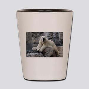 Polar Bear Roaring Shot Glass