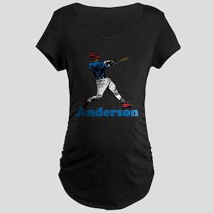 Personalized Baseball Maternity Dark T-Shirt