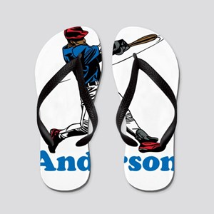 Personalized Baseball Flip Flops