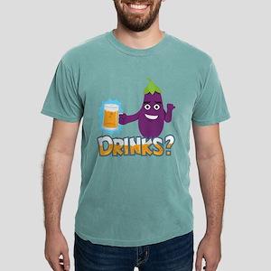 Eggplant Drinks Beer Mens Comfort Colors Shirt