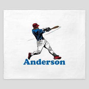 Personalized Baseball King Duvet