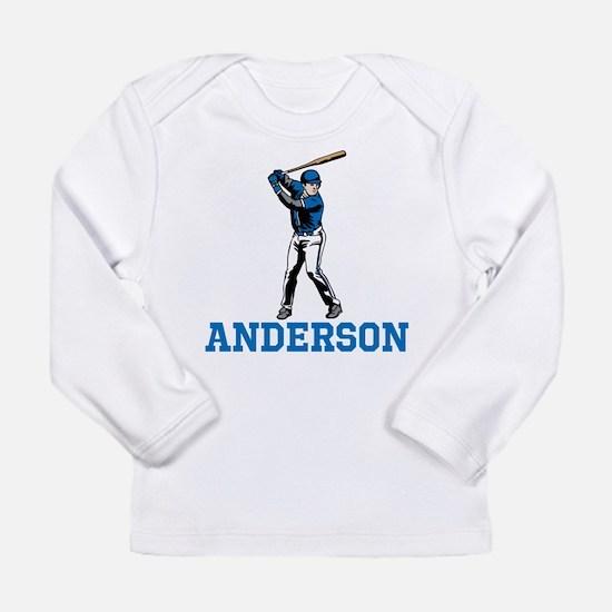 Personalized Baseball Long Sleeve Infant T-Shirt