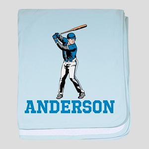 Personalized Baseball baby blanket