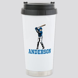 Personalized Baseball Stainless Steel Travel Mug