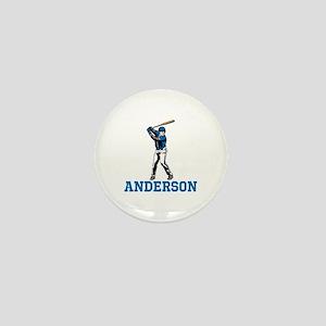 Personalized Baseball Mini Button