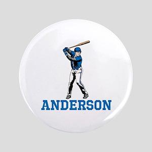 """Personalized Baseball 3.5"""" Button"""