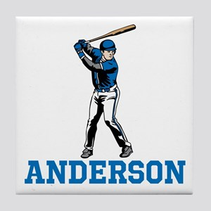 Personalized Baseball Tile Coaster