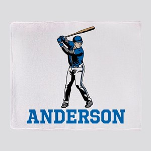 Personalized Baseball Throw Blanket