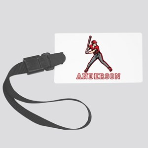 Personalized Baseball Large Luggage Tag