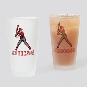 Personalized Baseball Drinking Glass
