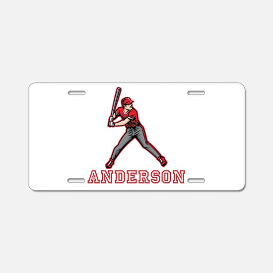 Personalized Baseball Aluminum License Plate