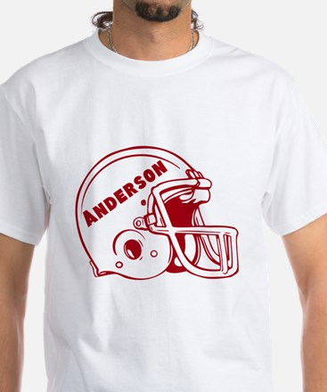 Personalized Football White T-Shirt