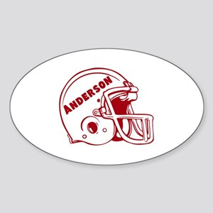 Personalized Football Sticker (Oval)