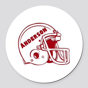 Personalized Football Round Car Magnet