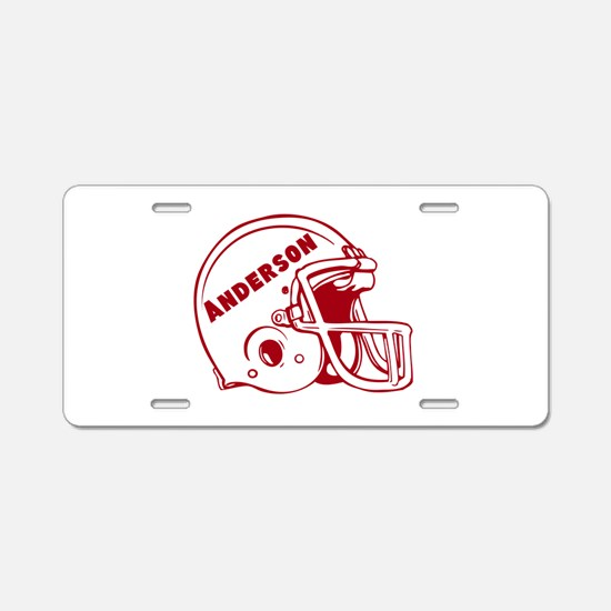 Personalized Football Aluminum License Plate