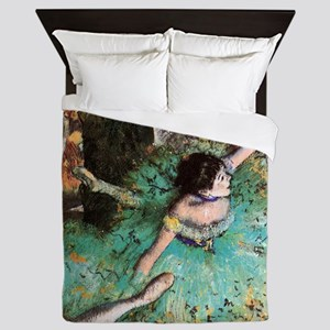 Edgar Degas The Green Dancer Queen Duvet