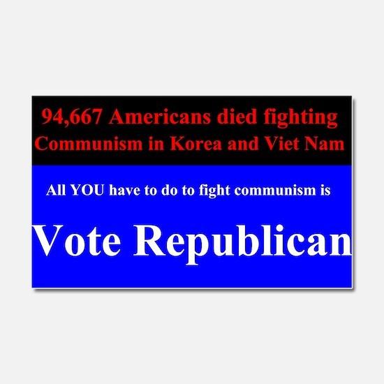 Fight Communism - Vote Republican Car Magnet 20 x
