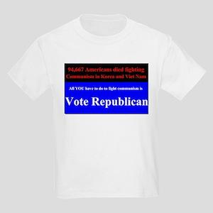 Fight Communism - Vote Republican Kids Light T-Shi