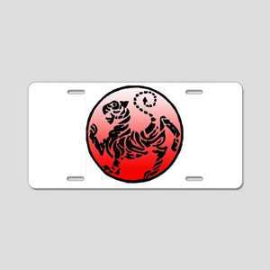shotokan - black tiger on red and white Aluminum L