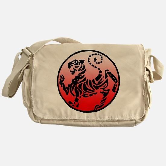 shotokan - black tiger on red and white Messenger