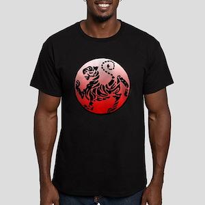 shotokan - black tiger on red and white Men's Fitt