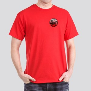 Shotokan - Black Tiger On Two-Sided Red T-Shirt
